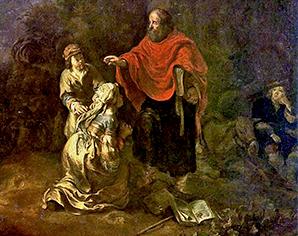 O profeta Eliseu e a mulher sunamita – Museu Nacional de Varsóvia (Polônia)