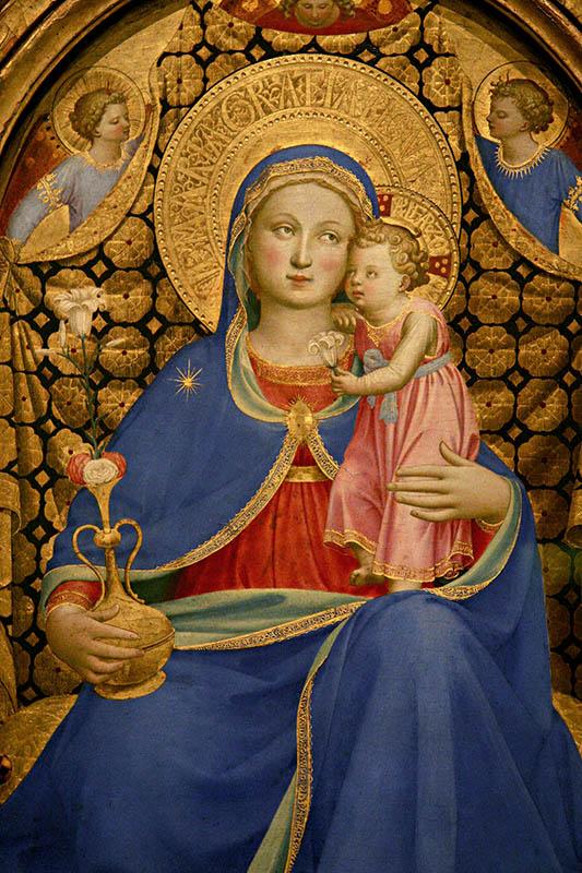 Virgen de la Humildad, por Fra Angélico – Museo Nacional de Arte de Cataluña, Barcelona